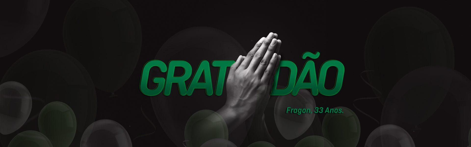 Gratidão é a palavra que traduz nosso sentimento por mais um ano de superação, evolução e conquistas.